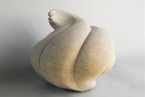 Winter Bulb - Ancaster stone - H:33cm, W:38cm (Photograph: Bill Knight) Sold