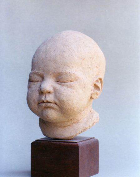Ariane : 10 days old - Terracotta - Life size